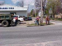 ベイツビルの道路工事風景